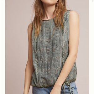 Anthropologie Addison Embroidered Top